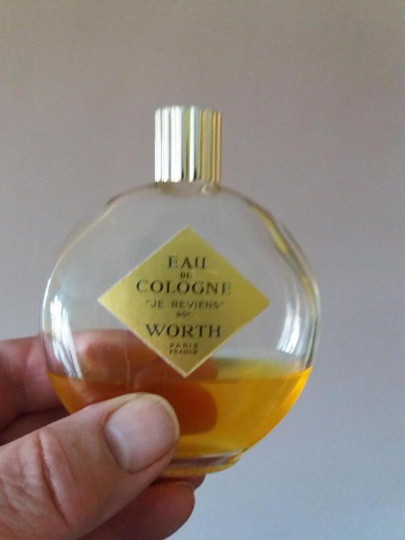Vintage WORTH Je Reviens Eau De Cologne  LALIQUE Bottle