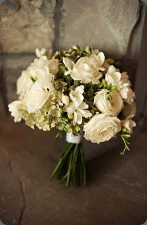 Bouquet - love the freesias