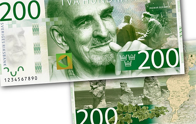 The future swedish 200 SEK bill featuring Ingemar Bergman. Nice.