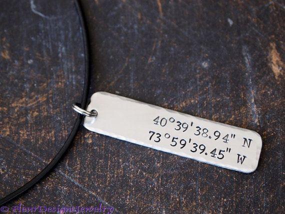 Collar personalizado coordenadas latitud longitud