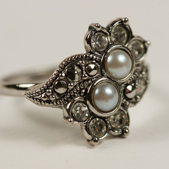 vintage pearl engagement ring - Google Search