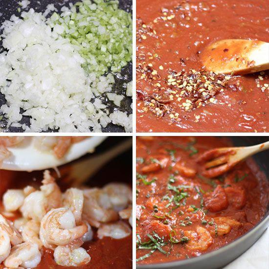 Linguini and Shrimp Fra Diavolo | Skinnytaste