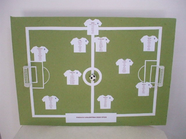 #Custumized #Handmade #Tableaux #de #mariage #Soccer #Calcio #Sport #Football