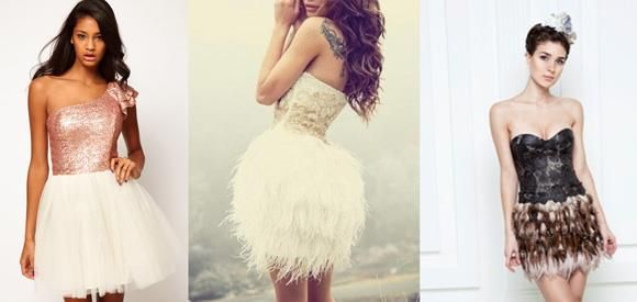 Платье asos с перьями на плечах