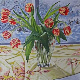 Tulips in Bilzzard