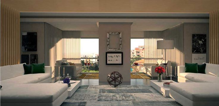 Part of the wall that separates the balcony and the living room is removed thus creating bright and spacious interior designed by decoaid