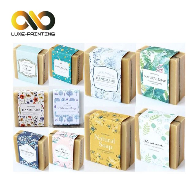 Retail Eco Friendly Lamination Matte Paper Material Sleeve Style Soap Box Packaging Handmade Soaps Handmade Natural Soaps Soap Packaging
