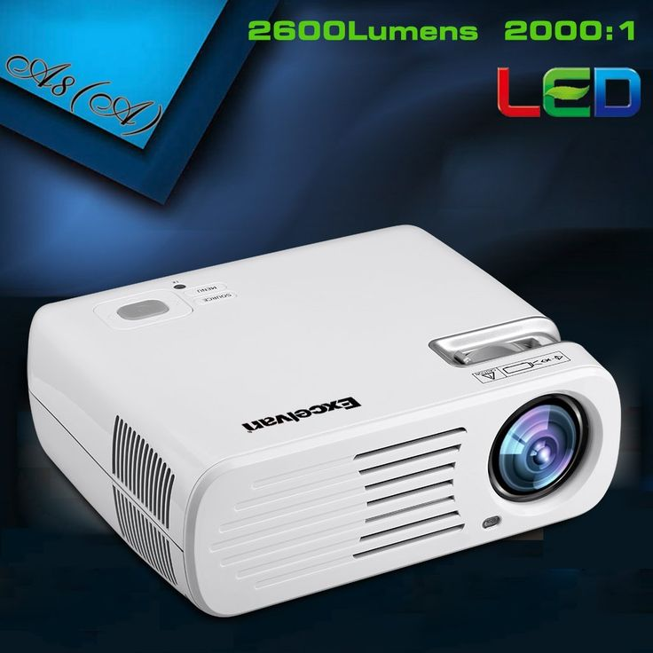Amazon.com: Excelvan HD LED Projector Multimedia for Cinema and Theater (2600 Lumens, 800x480 Resolution, 1080p Support, USB/HDMI/Analog TV/AV/YPbPr/VGA/RCA Stereo In), White: Cell Phones & Accessories