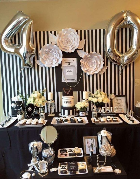 Take A Look At The 12 Best 40th Birthday Themes For Women In 2021 40th Birthday Decorations Birthday Party Decorations For Adults 40th Birthday Themes