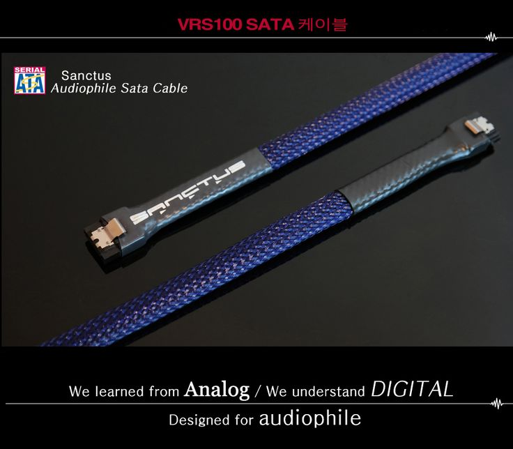 audiophile sata cable / videophile sata cable /  sata cable for pc-fi / sata cable for htpc / audio grade sata cable  www.sanctusaudio.com       www.facebook.com/sanctusaudio
