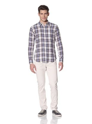 Vince Men's Tartan Plaid Shirt
