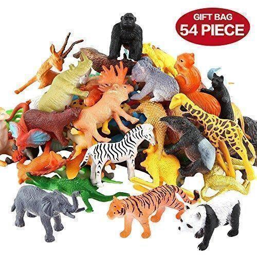 Oferta: 11.77€ Dto: -29%. Comprar Ofertas de Figuras Animales, Conjunto de Juguetes Animales de Mini Selva de 54 Piezas, Recursos de Aprendizaje y Favoritos de Fiesta de  barato. ¡Mira las ofertas!