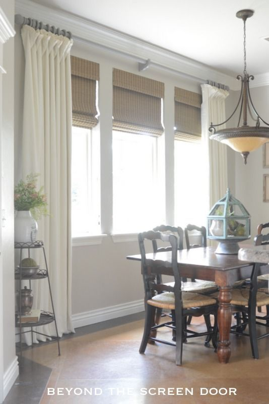 Ivory Linen Window Treatments - The Stunning Results of New Fabric & Paint | Beyond the Screen Door