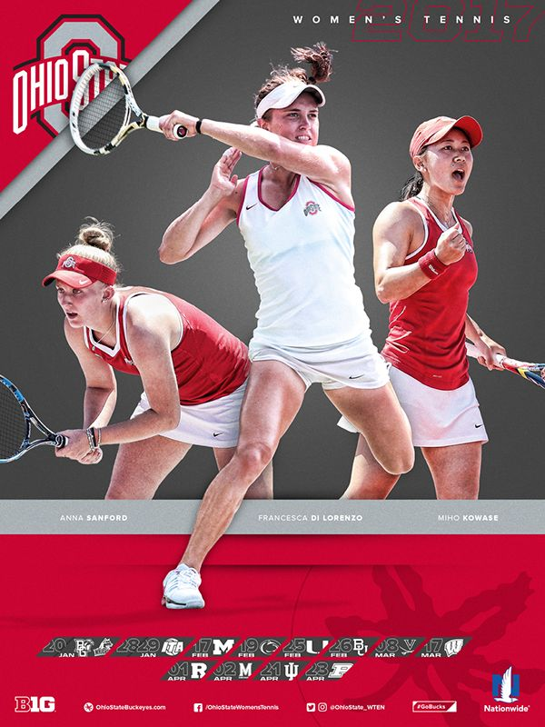 Ohio State Athletics Women's Tennis Schedule Poster