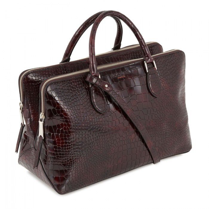 ROCHAS Reptile Effect Patent Leather Tote | Harvey Nichols