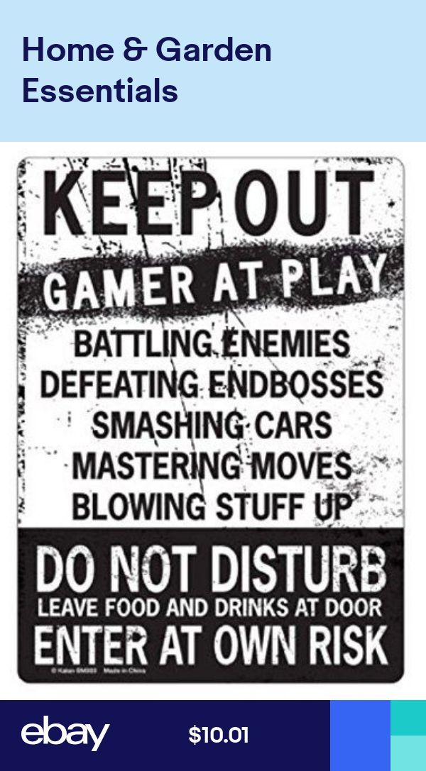 KEEP OUT Gamer At Play ENTER At Own Risk Tin Sign Fortnight Gamer Room Decor – – #GamerRoom|DIY