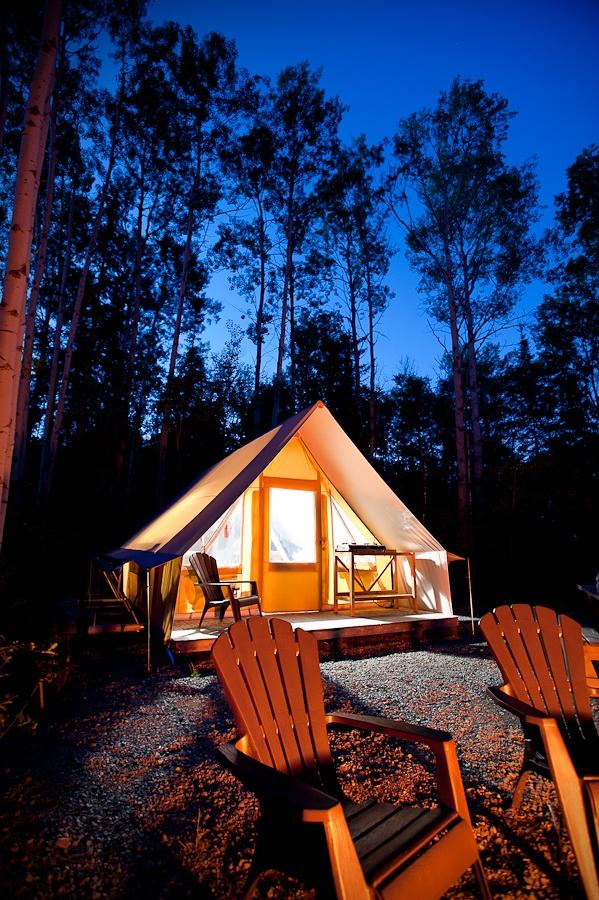 Tente Huttopia, Parc national d'Aiguebelle ‹ Hugo Lacroix – Photographe