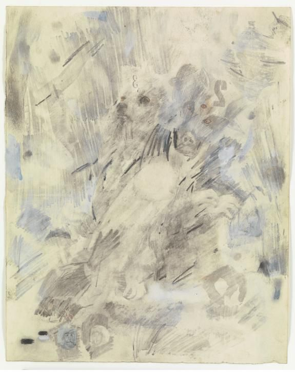 Canto VI: Circle Three, The Gluttons, from the series Thirty-Four Illustrations for Dante's Inferno | Robert Rauschenberg Foundation