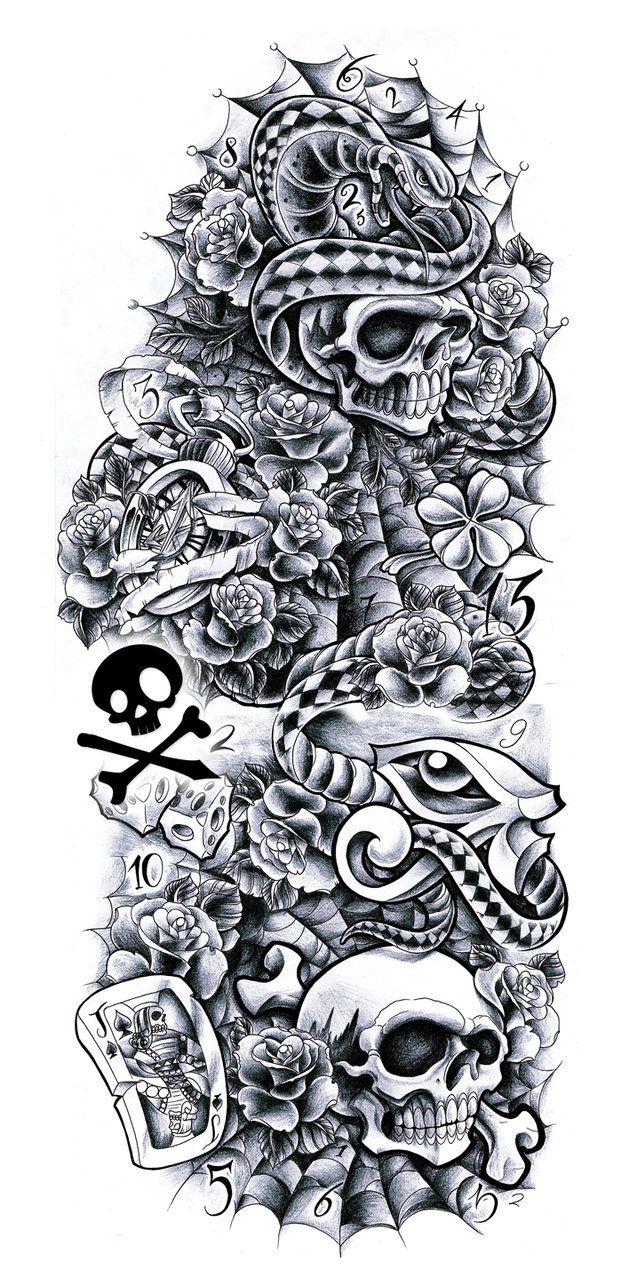commission sleeve andrea sleeve tattoo designs