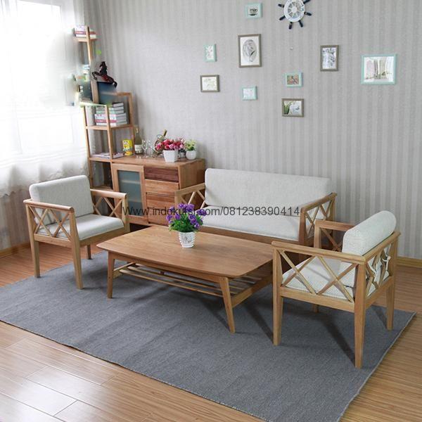Jual FurnitureKursi Tamu Minimalis Silang Kayu Jati Jok Busa merupakan Produk Furniture Desai Ruang Tamu Minimalis Model Silang yang Unik Untuk Ruang Tamu anda