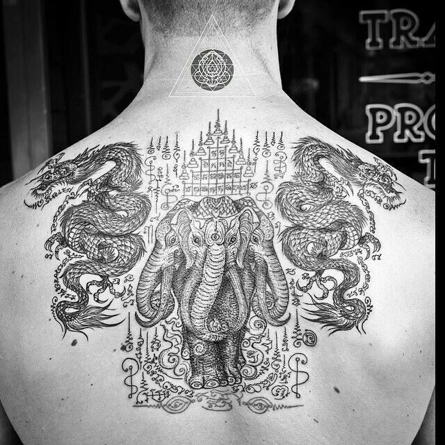 Thethreeheads representthreemajor Gods in Hindu mythology. BRAHMA , VISHNU AND MAHESH. Brahma is the CREATOR, Vishnu is the KEEPER and Mahesh is the DESTROYER.. Thethree headed elephantis of Buddhist/Hindu origin (Airavata or Erawan).