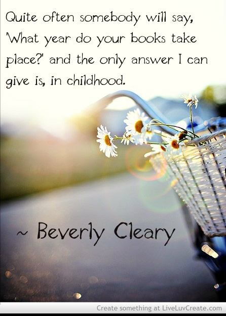 It's Drop Everything And Read Day which we celebrate on April 12 in honor of Beverly Cleary's birthday.  So drop everything and read like Ramona!