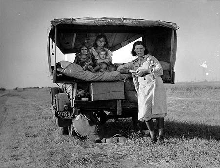 Photo by Dorothea Lange. These people knew about hard times, those kids had a rough childhood, mine was cake.