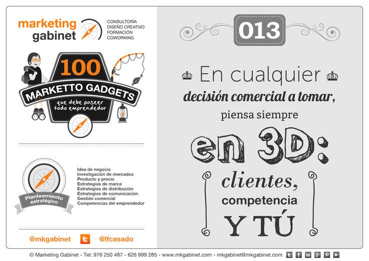 #MKG013 En cualquier decisión comercial a tomar, piensa siempre en 3D: clientes, competencia y tú #MarkettoGadgets