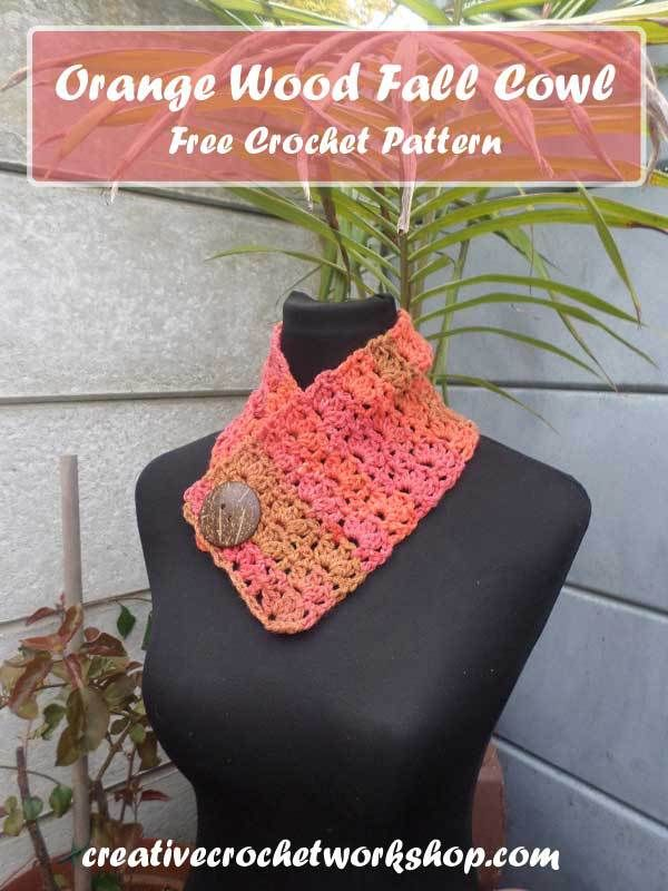 Orange Wood Fall Cowl | Crafting A Rainbow Of Hope | Creative Crochet Workshop