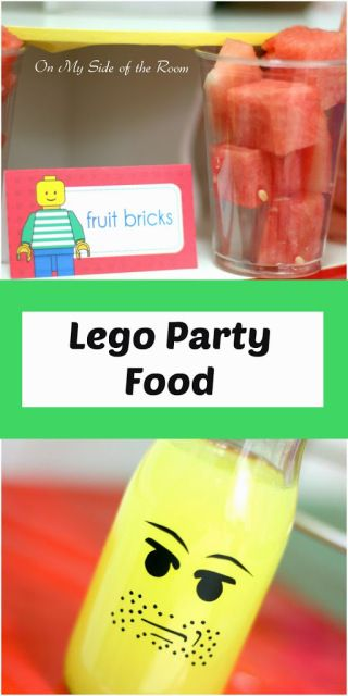 ideas for lego party food - simple easy ways for a great lego birthday party