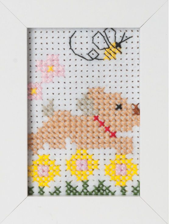 Dog Felt Cross Stitch Kit With Frame £7.75 | Past Impressions | Groves