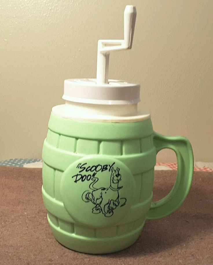 VTG 1971 SCOOBY DOO MR. SLUSH FREEZER MUG Hanna Barbera GREEN Cup Mug RARE!!!  | eBay
