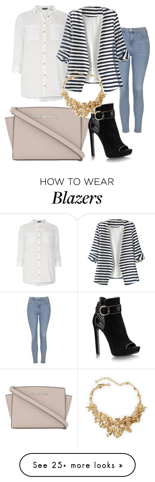 """""""Untitled #283"""" by alexandrawaldorf on Polyvore featuring Dorothy Perkins, Topshop, WithChic, MICHAEL Michael Kors, Oscar de la Renta, women's clothing, women, female, woman and misses"""