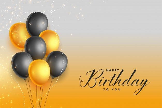Download Happy Birthday Gold And Black Celebration Background For Free Happy Birthday Frame Birthday Background Images Happy Birthday Black