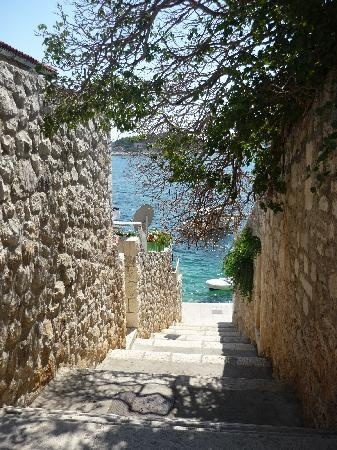 Stairs down to the water on Hvar Island