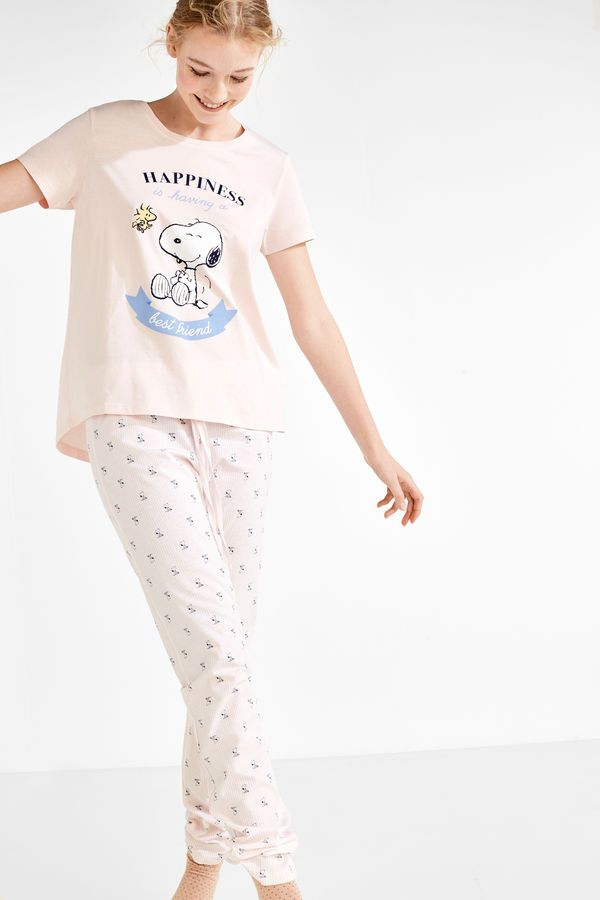 8ad7a56c9 Womensecret Pijama Snoopy  Happyness  rosa