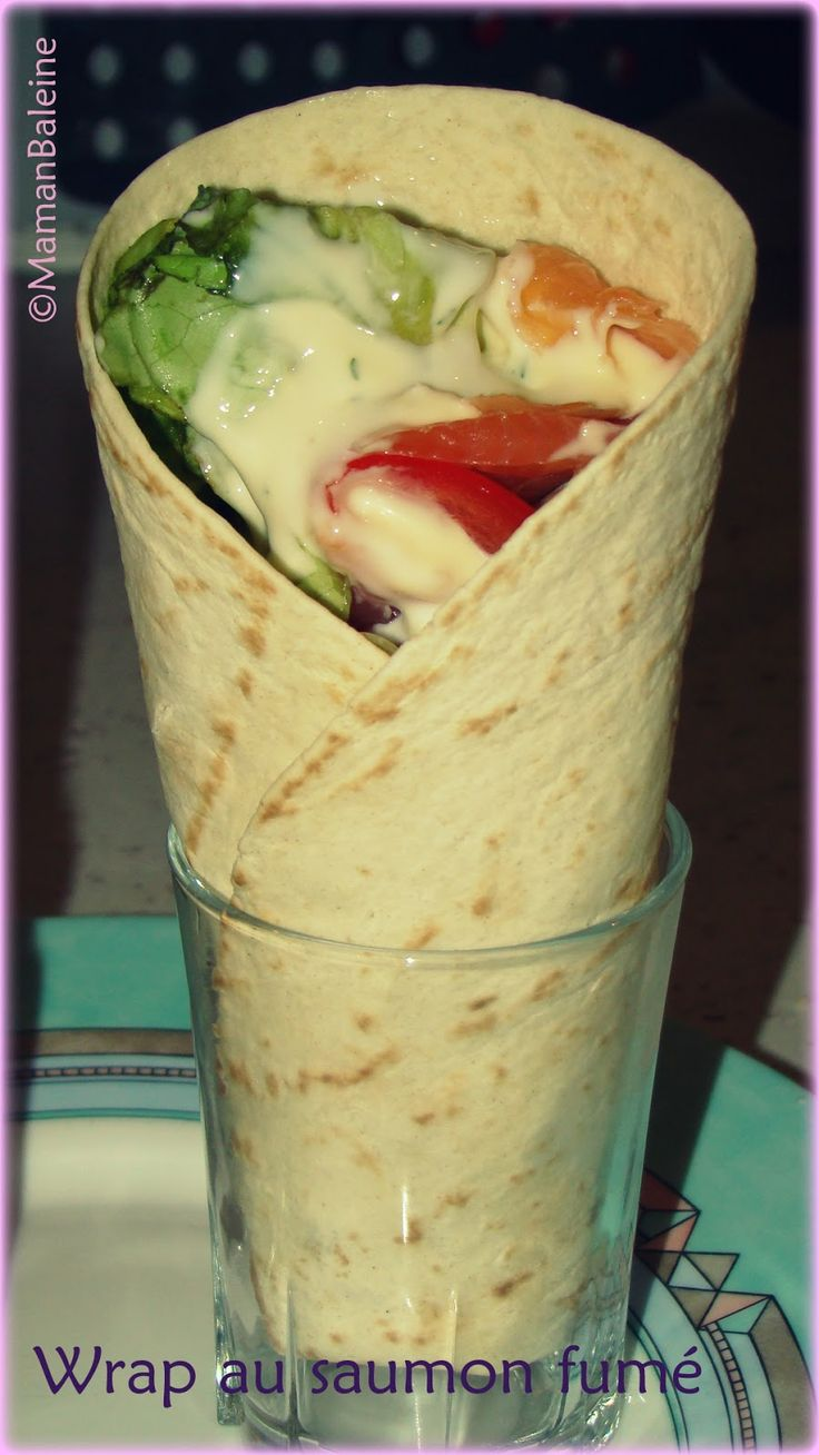Une Baleine chez Weight Watchers: Wrap au saumon fumé - 6 PP