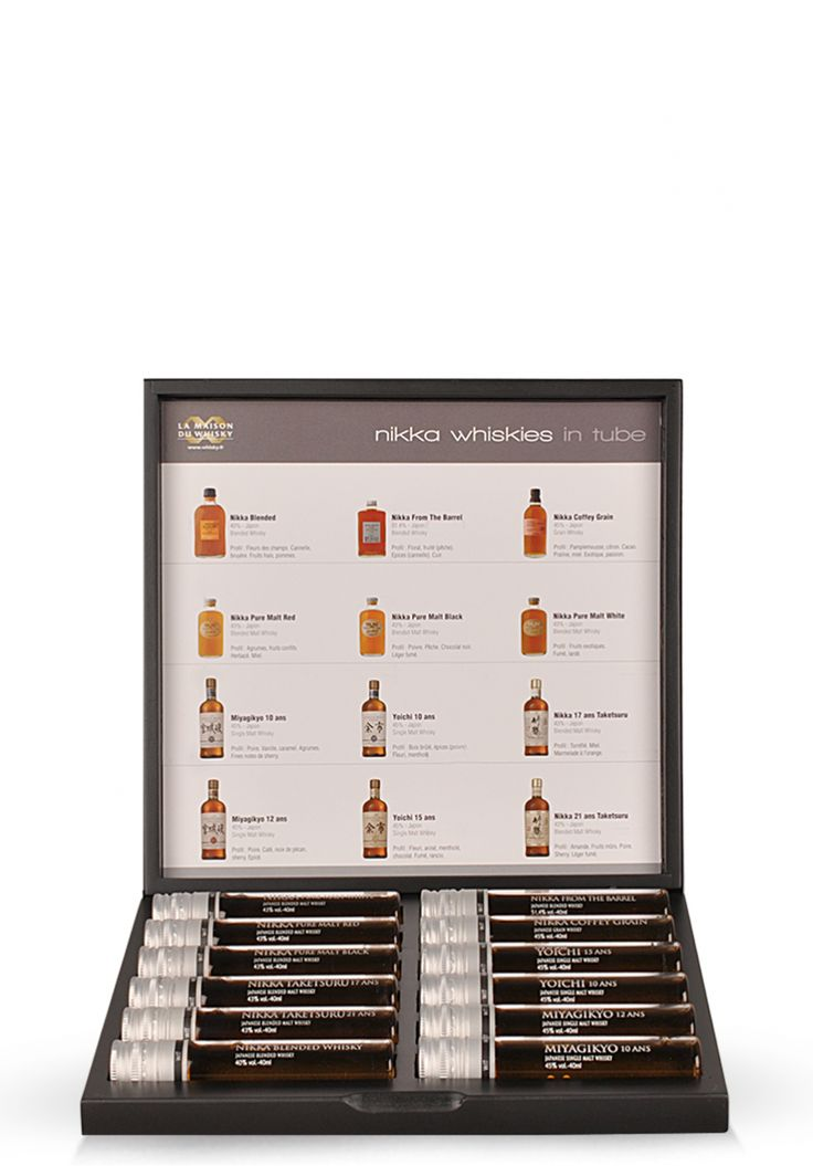 """Set degustare: """"Nikka Whisky in tube WIT"""", Fine Whiskies (12 x 4 cl) - SmartDrinks.ro"""