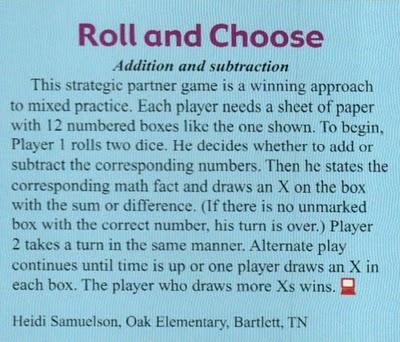 Swamp Frog First Graders: Mailbox Magazine Game Idea Dec./Jan. 2009-10