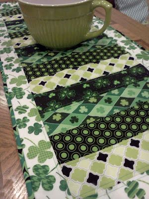 St Patricks Day table runner!