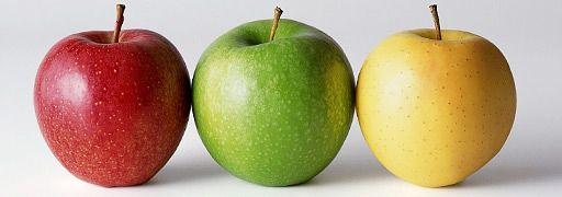 Apfel ABC – Ein roter, grüner und ein gelber Apfel | Rechte: colourbox.com