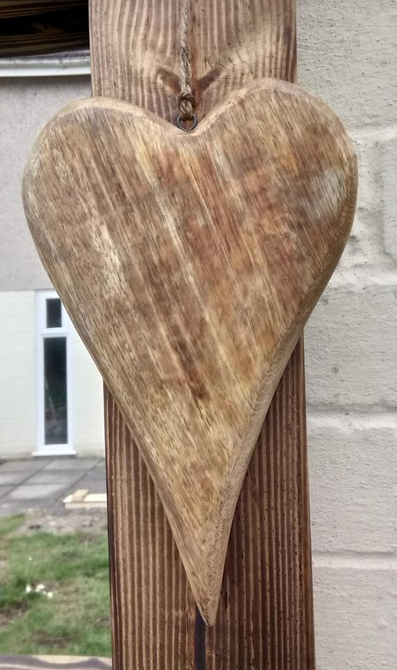 Large Solid Wood Hearts Handmade Rustic Wooden Love Hearts Etsy Wood Hearts Wood Wood Art