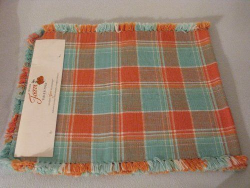 Genuine Fiesta Cloth Table Runner, Peach and Turquoise by The Homer ...