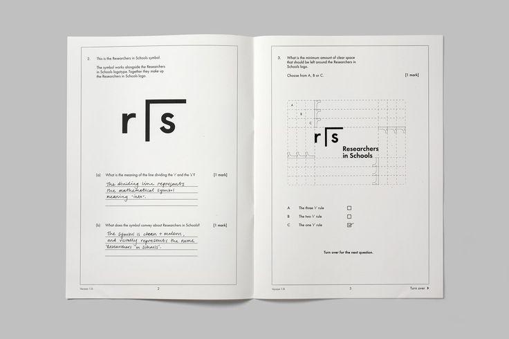 영국에 의해 학교에서 연구원을위한 브랜드 가이드 라인을 기반으로 그래픽 디자인 스튜디오 폴 벨 포드 (주)