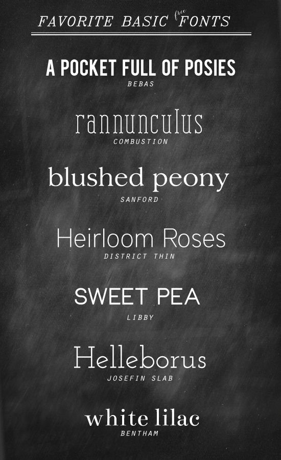 love these - I'm always pinning fancy, scripty fonts but then I have nothing when I need something clean and simple!