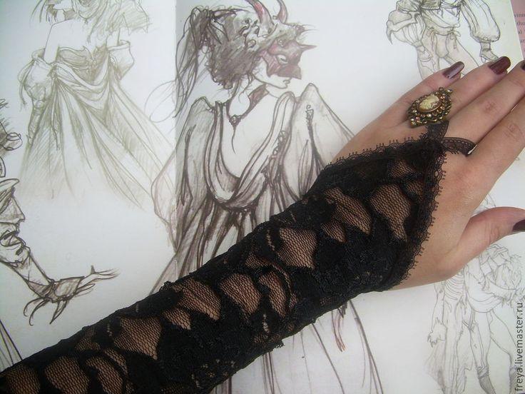 Купить Длинные кружевные перчатки - перчатки, кружевные перчатки, перчатки без пальцев, вечерние перчатки