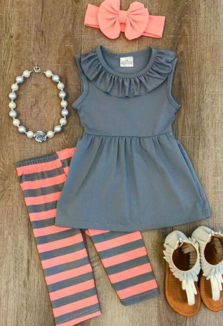 stunning Boutique Kids Baby Girls Striped Tops Dress Pants
