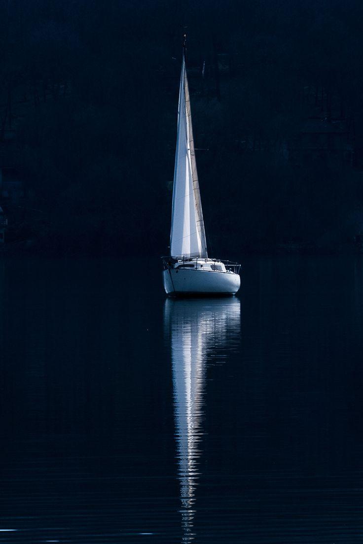White reflection at night