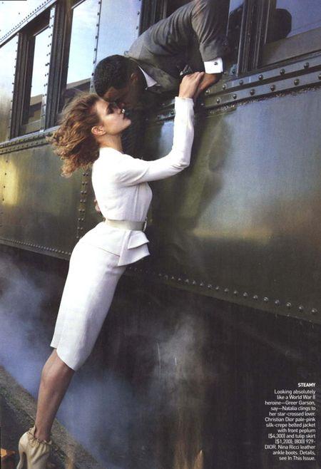 Natalia Vodianova и P. Diddy для Vogue