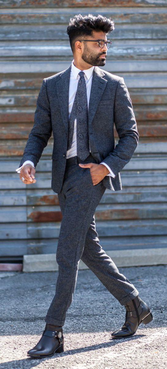 Le grand retour du costume en tweed ! Retrouvez ce look sur Nouvelle Collection #nouvelleco #tweed #homme #mode #costume